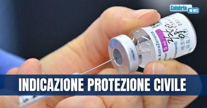 ProCiv Calabria-astrazeneca