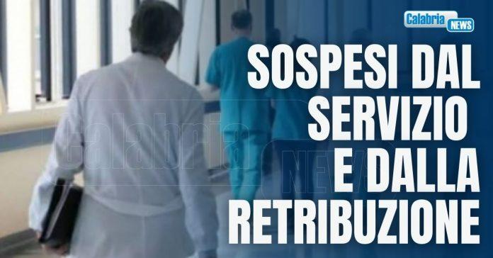 medici no vax sospesi in calabria