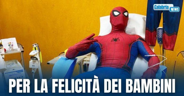 spiderman all'ospedale di cosenza