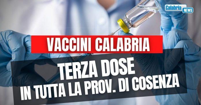 vaccini terza dose a cosenza